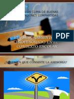 EL ASESORAMIENTO AL PROFESORADO EN EL CONTEXTO ESCOLAR.