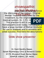 Homoeopathy Mother TincturesandUses