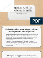 Logistics and Its Problems in India