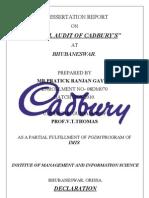Retail Audit of Cadbury's-final Copy - Uneditable