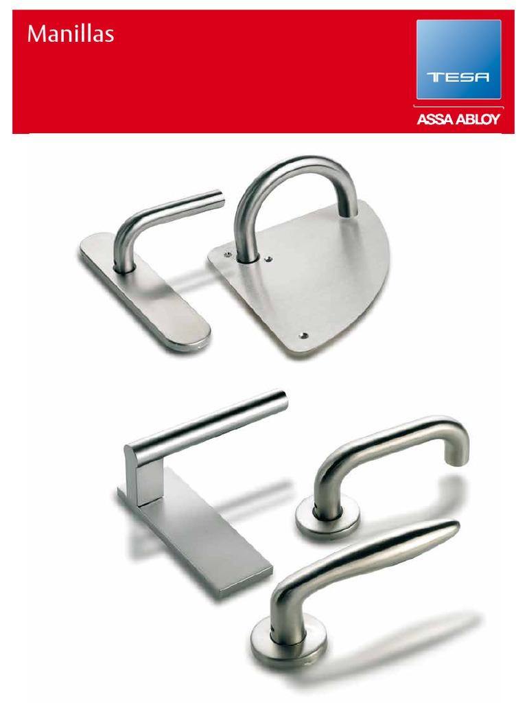 Blanco Tesa Assa Abloy M1500BL Juego de Manillas de Aluminio