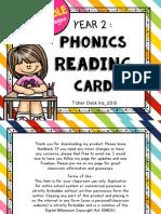 Y2 Phonics Reading Card