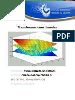 Transformaciones lineales