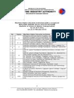 Status of Maritime Higher Educ 23Feb2015