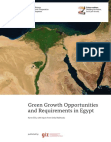 Study on Green Growth Opportunities and Requirements in Egypt