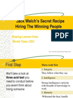 How Jack Welch Hiring the Winning People
