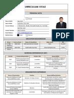 CV simple