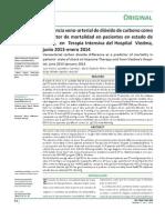 Diferencia Arteriovenoso Como Predictor de Mortalidad