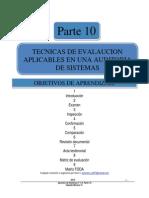 p10 Tecnicas de Evalaucion Auditoria Sistemas CMV