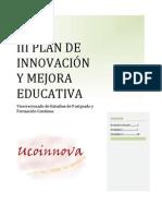 III Plan Innovación y Mejora Educativa