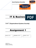 BTEC Level 3 Organisational Systems Security Assignment 1 (1)