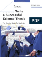 How to Write a Successful Science Thesis OK
