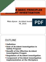 Overview Prinsip Dasar Program Investigasi Kecelakaan