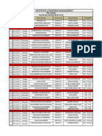 Final Examination Schedule - FALL 2015 - IoBM City Center