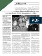 151214 La Verdad CG- La Convivencia Entre Religiones en Gibraltar Se Basa en El Respeto y Se Transmite de Padres a Hijos p.6