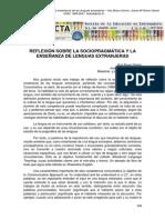 ARTÍCULO - Reflexión Sobre La Sociopragmática y La Enseñanza de Lenguas Extranjeras