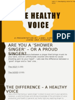 The Healthy Voice Presentation