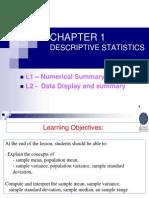 Chapter 1 Descriptive Statistcs 1_2012