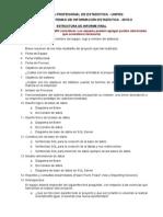 Estructura de Informe Final Tsie 2015-II