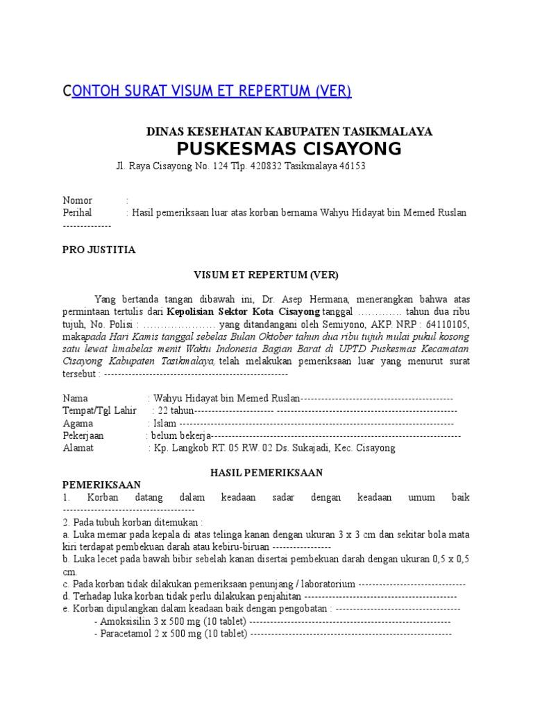 Contoh Surat Visum Gudang Surat