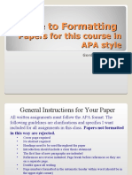 A Presentation by Doctor Whitehead on How to Format an APA Paper