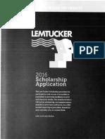 cmu lem tucker scholarship