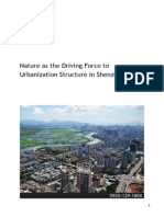 Nature as the driving force to urbanization structure in Shenzhen