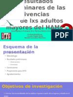 Resultados preliminares de las vivencias de lxs adultos mayores del HAMC.