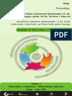 International Colloquium Epistemologies of the SouthSouth-South, South-North and North-South global learningsActas.pdf