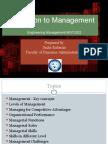 Intro to Management