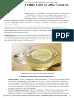 10 Beneficios de Beber Sumo de Limão Todas as Manhãs _ Medicina Tradicional Chinesa