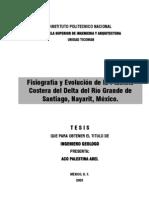 Fisiografia Delta Rio Grande Nayarit Mexico