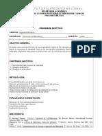 Ciencia de Los Materiales II programa educativo