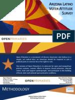 Arizona Latino Voter Attitude Survey
