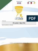 Coupe de La Ligue FC Lorient - Dijon FCO