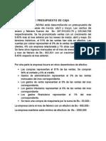 Word Presupuesto de Caja Supuestos