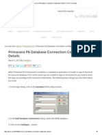 Primavera P6 Database Connection Configuration Details _ Ten Six Consulting