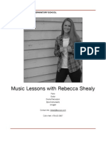 private music lessons info packet pdf