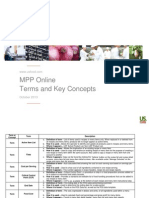 MPP Online - Terms and Key Concepts