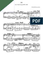 Bach Johann Sebastian Air on g Trans for Piano