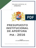Modelo de PIA