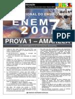PROVA ENEM 2007 FINAL AMARELA