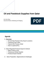 Oil & Feedstock Supplies From Qatar