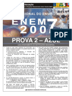 PROVA ENEM 2007 FINAL AZUL