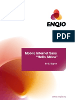 Mobile Internet Says Hello Africa