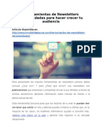 4 herramientas de Newsletters recomendadas para hacer crecer tu audiencia