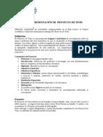 Pauta de Presentacion Proyecto Tesis u de Chile 230710