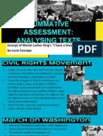 summative assessment- analysing texts  1