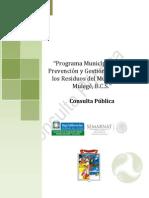 Prog  Prev y Gestión Integral Residuos de Mulegé, B.C.S.
