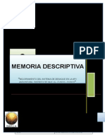 Memoria Descriptiva SAYLLA DESAGUE
